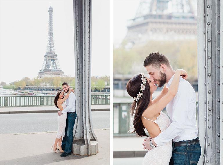 happy parisian couple