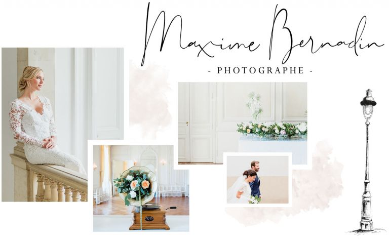 photos mariage aux tons blancs et pastels