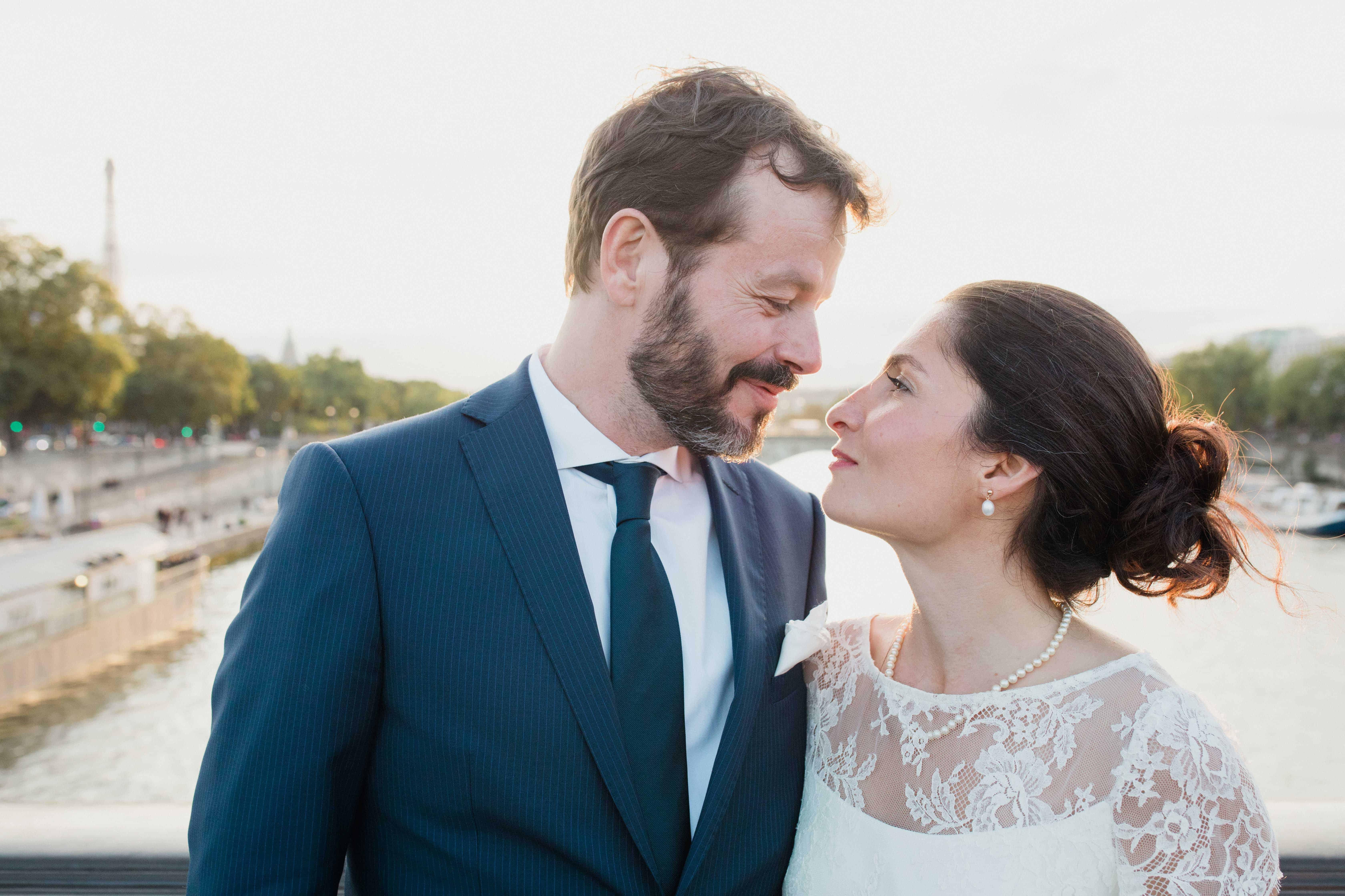 Le marié et sa femme sur la Seine