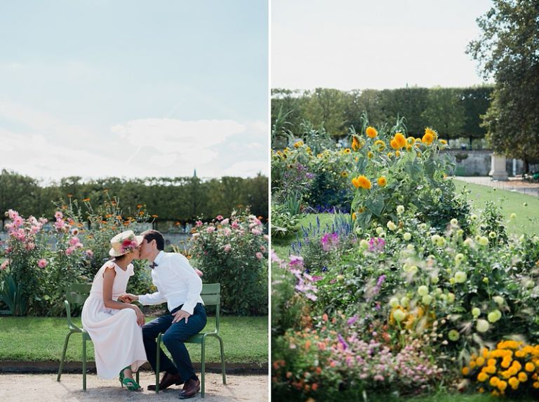 Mariage au jardin des tuileries