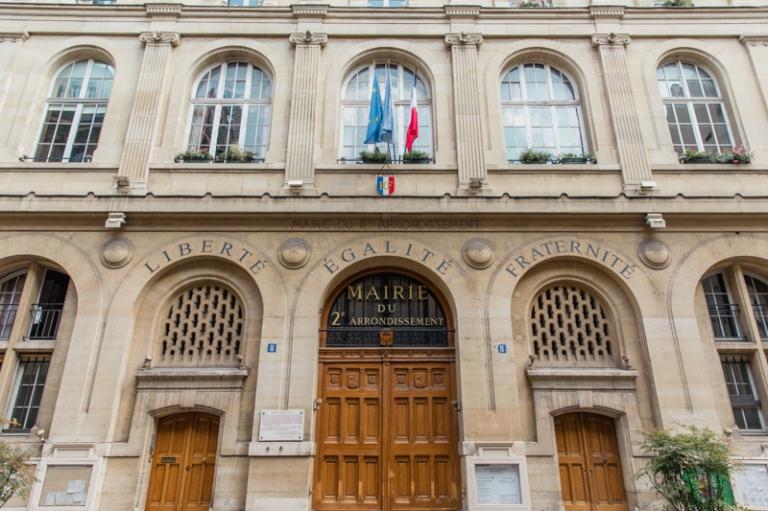 Parvis mairie Paris 2 shooting mariage