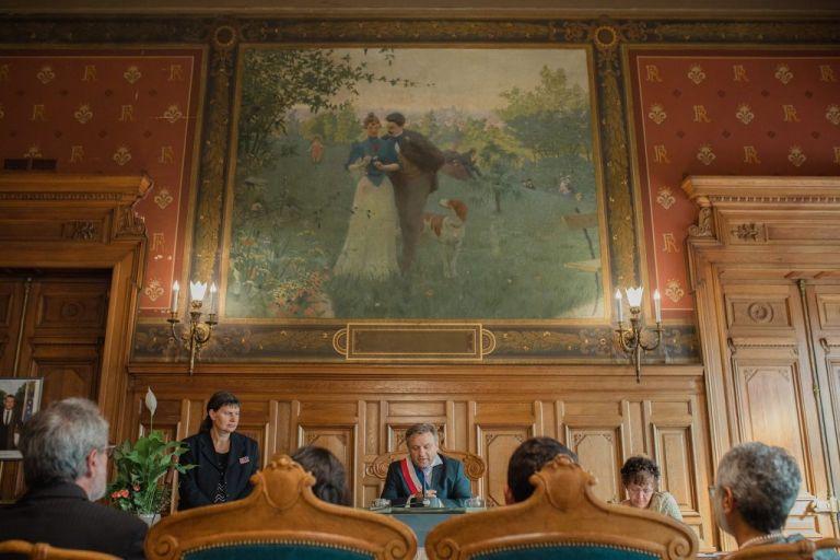 intérieur de la mairie du 14eme paris