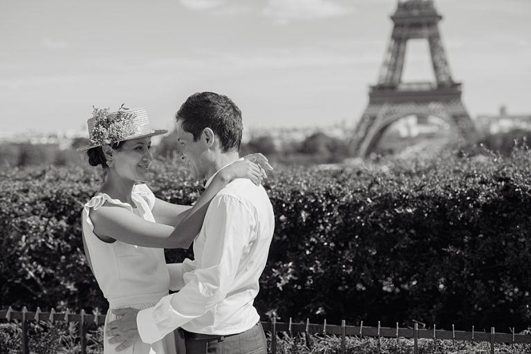 Séance couple au jardin des Trocadéro paris