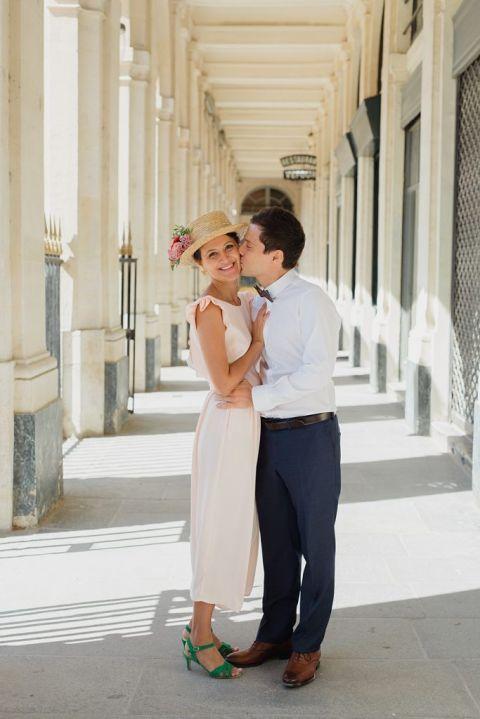 Séance couple au jardin du Palais Royal