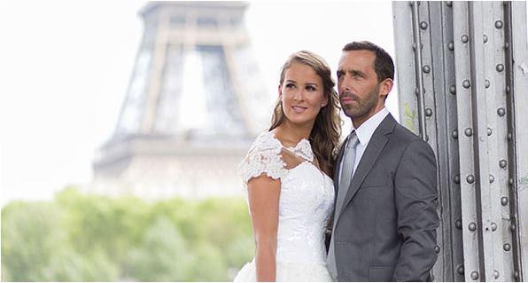 Magnifique couple de marié au pont bir hakeim
