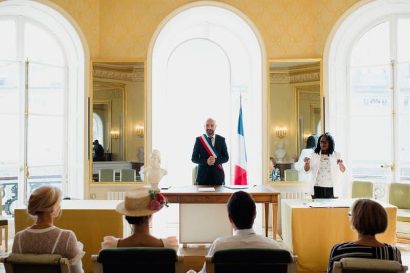 Mariage célébrer dans la mairie du 9eme arrondissement de Paris