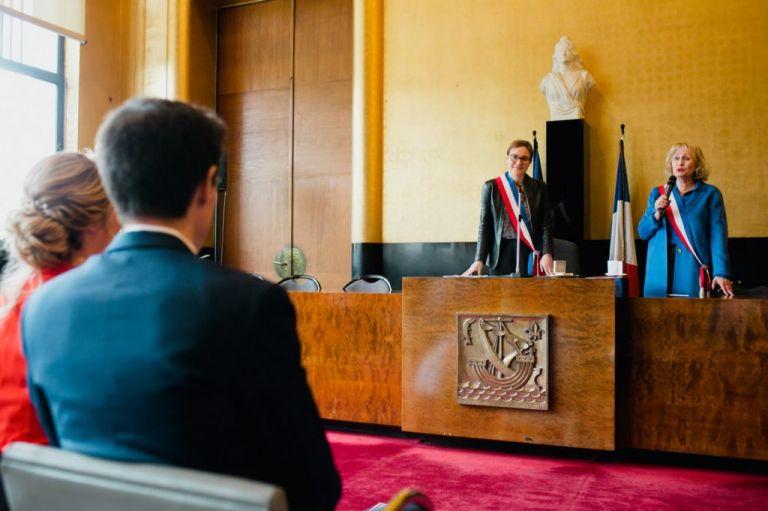La salle de cérémonie de la mairie de Boulogne
