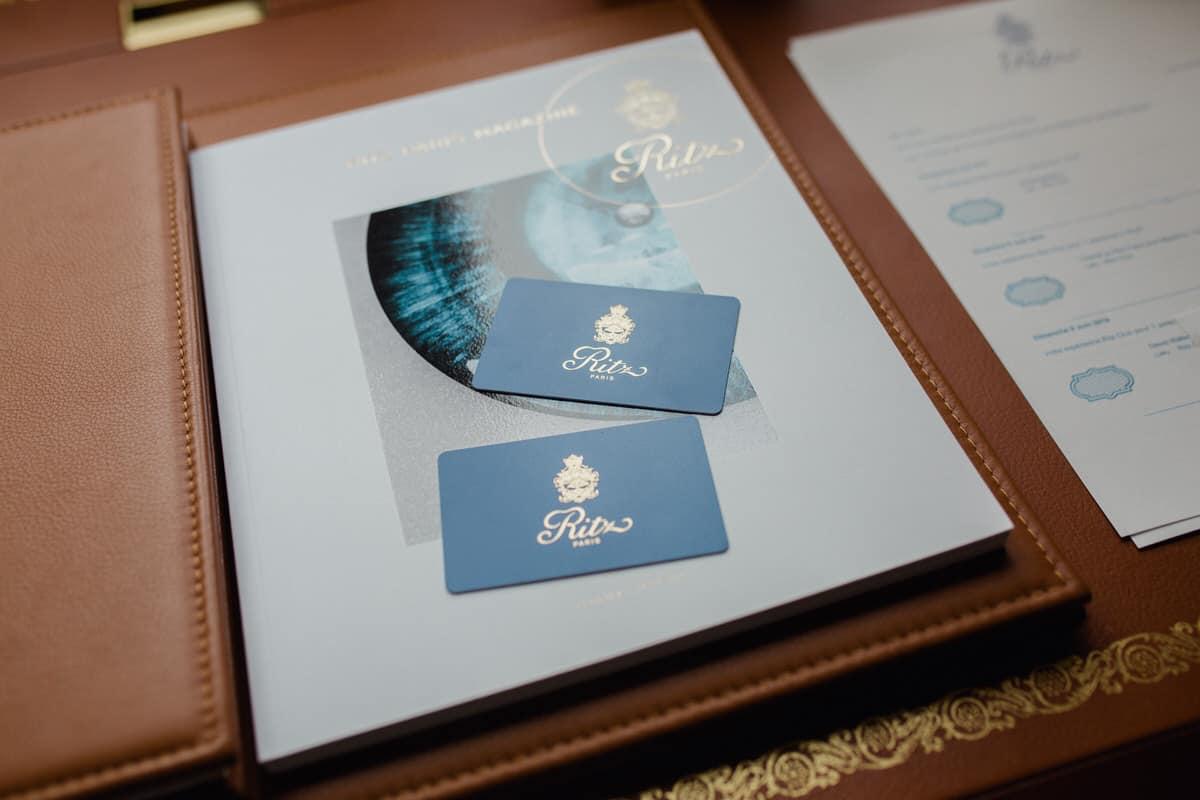 passes pour l'Hotel Ritz a Paris