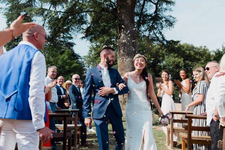 Les mariés repartent ensemble
