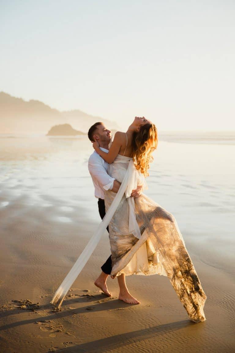 magnifique photo de mariage à la plage