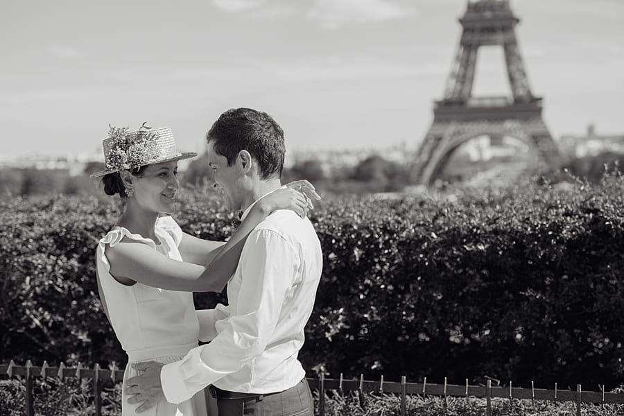Séance couple au jardin des Trocadéro