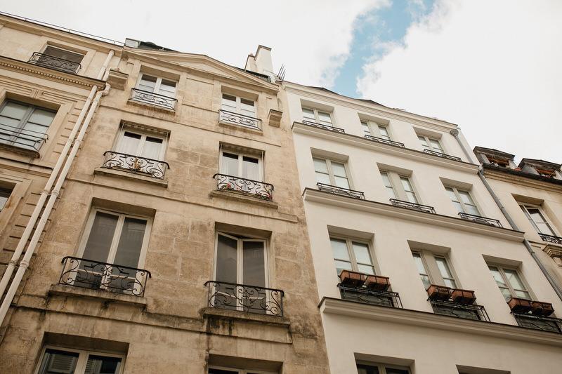 photo d'immeubles parisiens