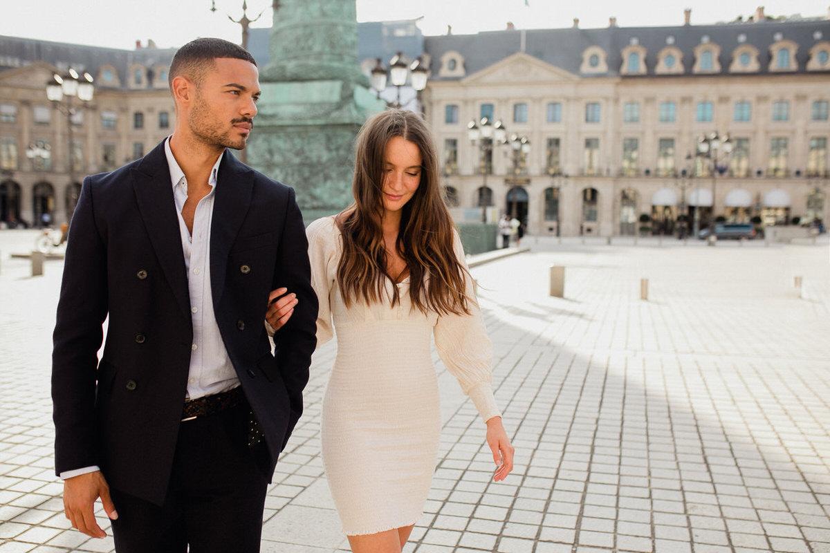une séance couple sur paris