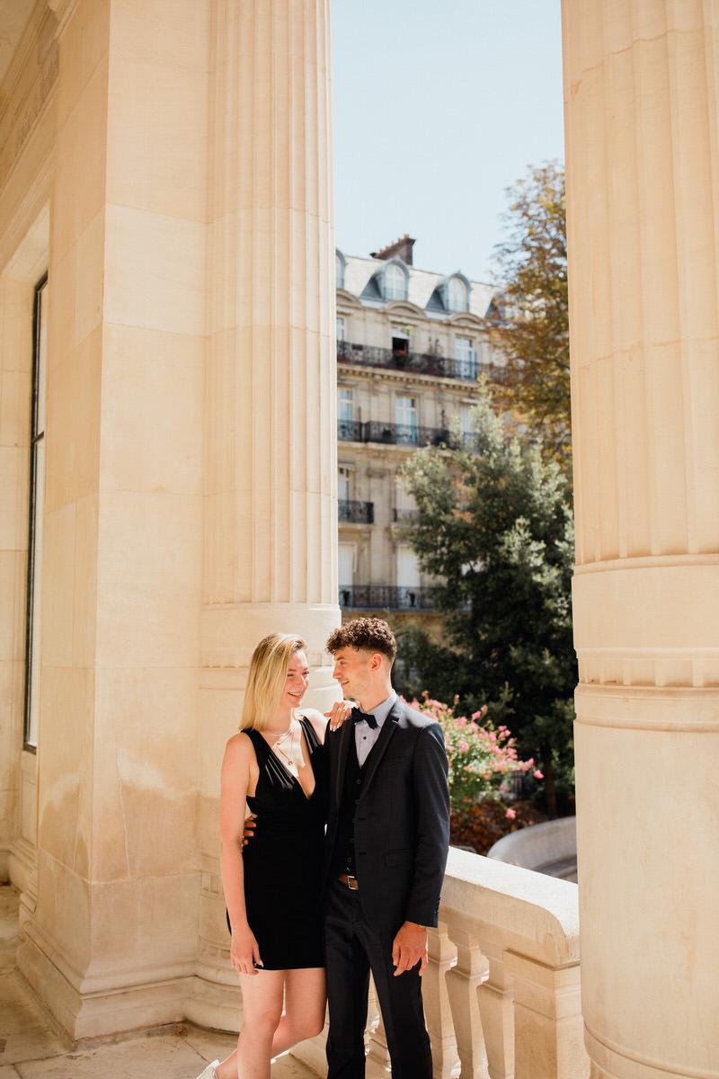 Shooting photo couple parisien